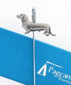 Dachshund Bookmark - high quality pewter gifts from Pageant Pewter
