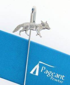 Fox Bookmark - high quality pewter gifts from Pageant Pewter