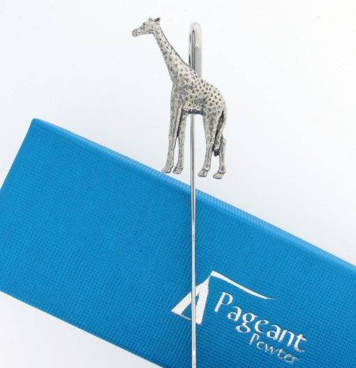 Giraffe Bookmark - high quality pewter gifts from Pageant Pewter