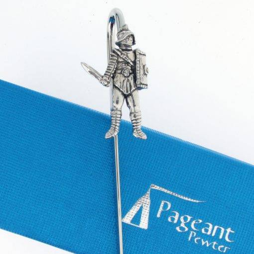 Gladiator Bookmark - high quality pewter gifts from Pageant Pewter