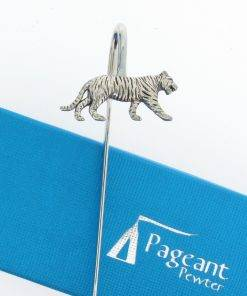 Tiger Bookmark - high quality pewter gifts from Pageant Pewter