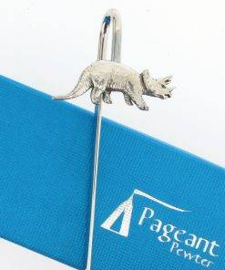 Triceratops Bookmark - high quality pewter gifts from Pageant Pewter