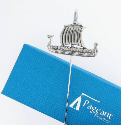 Viking Longship Bookmark - high quality pewter gifts from Pageant Pewter
