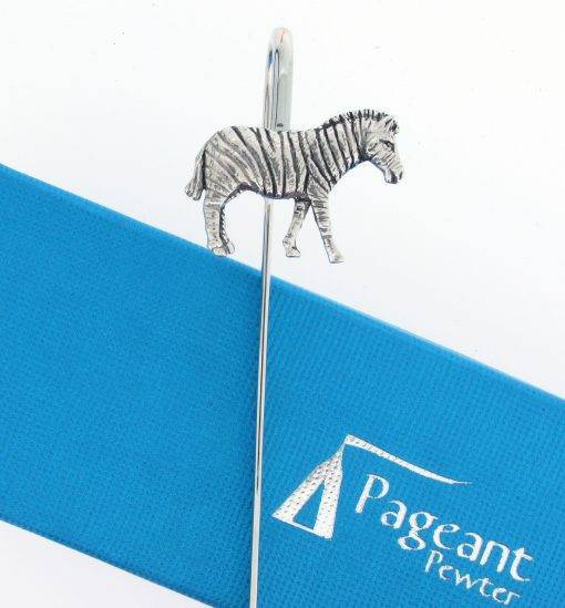 Zebra Bookmark - high quality pewter gifts from Pageant Pewter