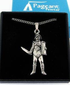 Gladiator Pendant - high quality pewter gifts from Pageant Pewter