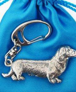Dacshund Keyring - high quality pewter gifts from Pageant Pewter