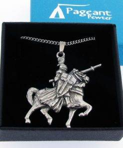 Knight Mounted Pendant - high quality pewter gifts from Pageant Pewter