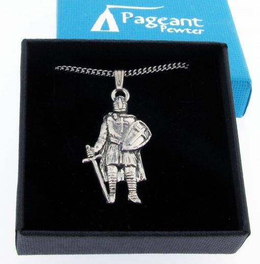 Knight Pendant - high quality pewter gifts from Pageant Pewter