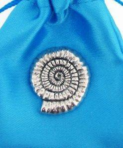 Ammonite Pin Badge - high quality pewter gifts from Pageant Pewter