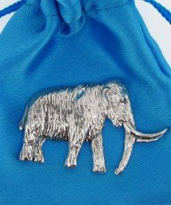 Mammoth Pin Badge - high quality pewter gifts from Pageant Pewter