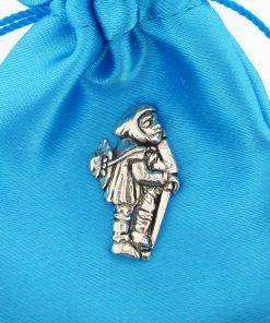 Medieval Pilgrim Pin Badge - high quality pewter gifts from Pageant Pewter