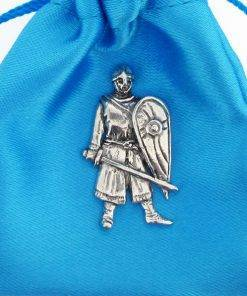 Norman Soldier Pin Badge - high quality pewter gifts from Pageant Pewter