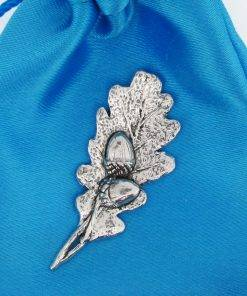 Oak Leaf And Acorns Pin Badge - high quality pewter gifts from Pageant Pewter