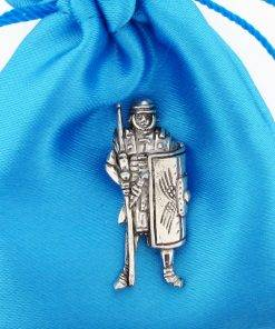 Roman Soldier Pin Badge - high quality pewter gifts from Pageant Pewter