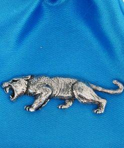 Sabre Tooth Tiger Pin Badge - high quality pewter gifts from Pageant Pewter