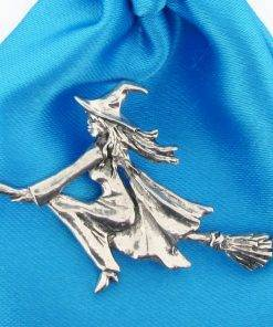 Witch Pin Badge - high quality pewter gifts from Pageant Pewter