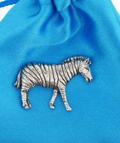 Zebra Pin Badge - high quality pewter gifts from Pageant Pewter