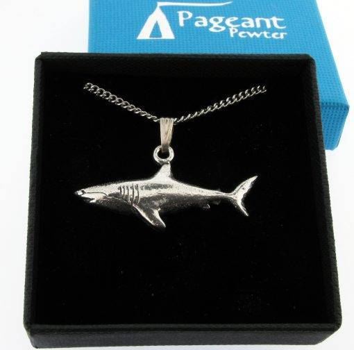 Shark Pendant - high quality pewter gifts from Pageant Pewter