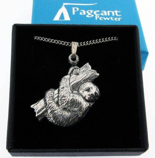 Sloth Pendant - high quality pewter gifts from Pageant Pewter