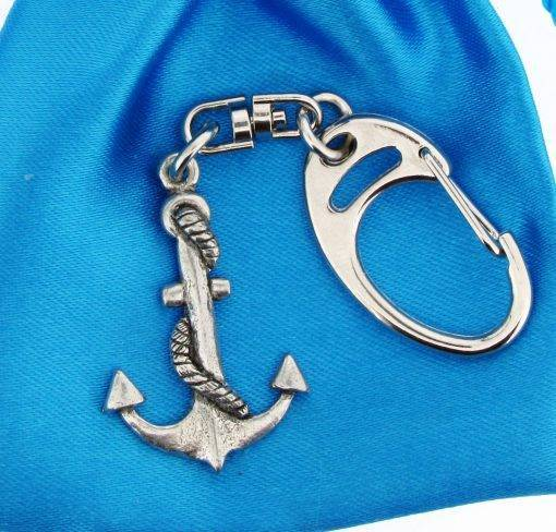 Anchor Small Keyring - high quality pewter gifts from Pageant Pewter