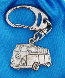 Camper Small Keyring - high quality pewter gifts from Pageant Pewter