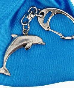 Dolphin Small Keyring - high quality pewter gifts from Pageant Pewter