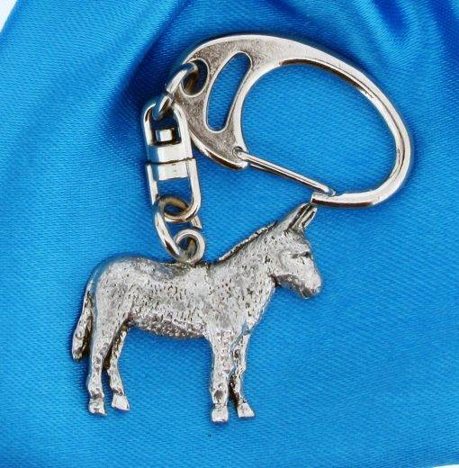 Donkey Small Keyring - high quality pewter gifts from Pageant Pewter