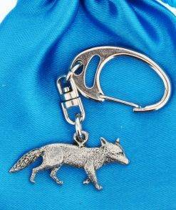 Fox Small Keyring - high quality pewter gifts from Pageant Pewter