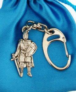 Small Keyring Knight - high quality pewter gifts from Pageant Pewter