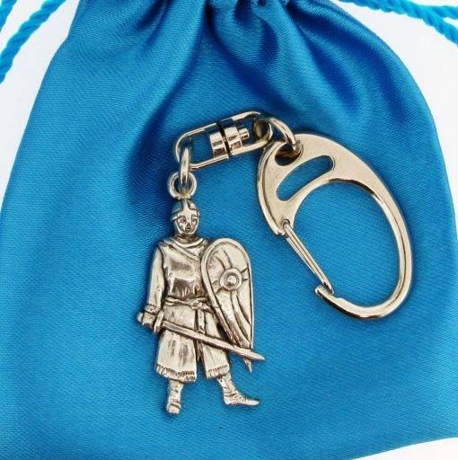 Norman Soldier Small Keyring - high quality pewter gifts from Pageant Pewter