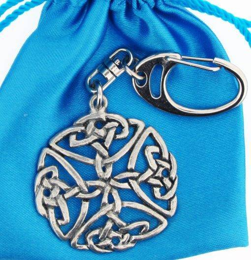 Open Celtic Knot Small Keyring - high quality pewter gifts from Pageant Pewter