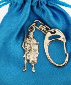 Roman Soldier Small Keyring - high quality pewter gifts from Pageant Pewter
