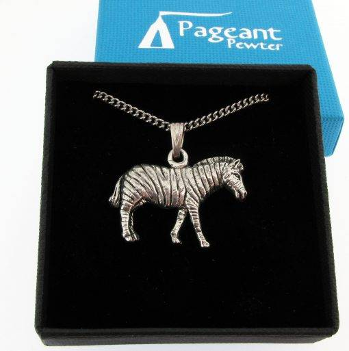 Zebra Pendant - high quality pewter gifts from Pageant Pewter